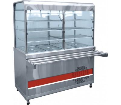 Прилавок холодильный ПВВ(Н)-70 М-С-01 НШ весь из нержавеющей стали