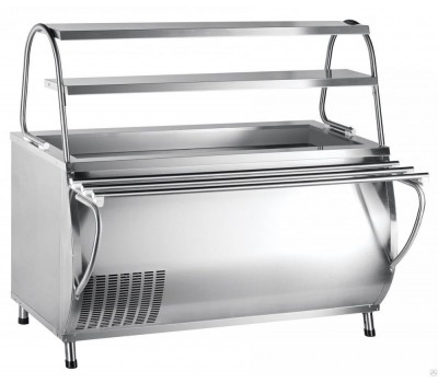 Прилавок холодильный ПВВ(Н)-70М-НШ весь из нержавеющей стали