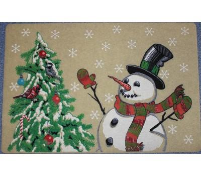 Коврик 45х69 Снеговик