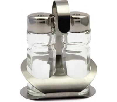 Набор для специй 3пр нерж,стекло S1857