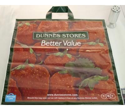 """Пакет с петлевой ручкой 45*45+10(70) """"Strawberries"""" уп25шт"""