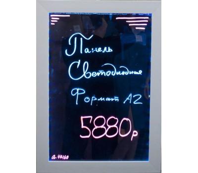 Панель светодиод,рамка белая, формат А2 стекло MYW-A2