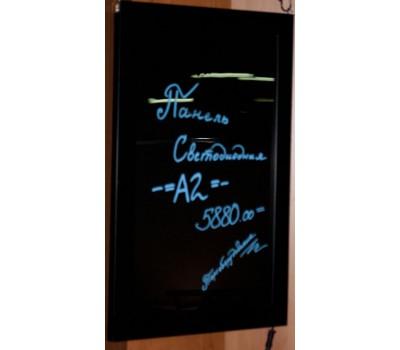 Панель светодиод,рамка черная, формат А2 стекло MYВ-A2