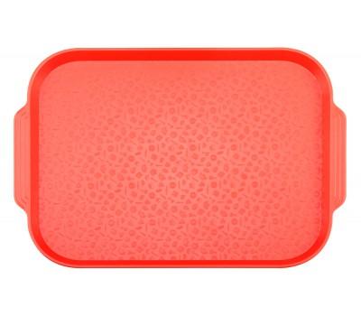 Поднос столовый 450х355 с ручками красный ви01