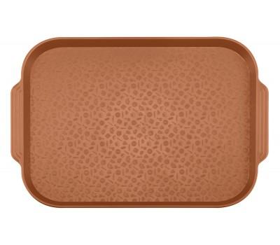 Поднос столовый 450х355 с ручками коричневый ви03