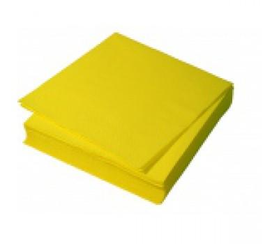 Салфетки бумажн 1сл 33*33 желт 6745