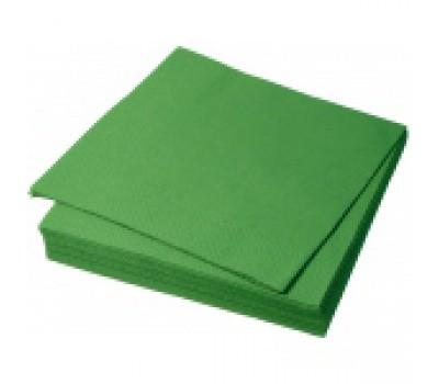Салфетки бумажн 1сл 33*33 зелен 6746
