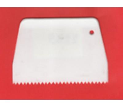 Скребок пластик. с треуг.зубчиками 11х13,5 h=9,5см 2488