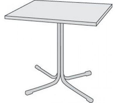 Стол СТ-7 белый мрамор (квадрат) Стелла