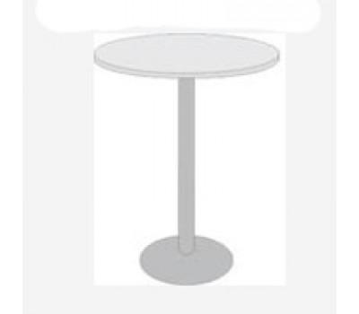 "Стол СТ-8/4-01 белый мрамор Стив d800 стойка - п/п ""черн.муар"""